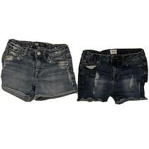 Girls Hudson and Levis Denim Shorts Size 6 Photo