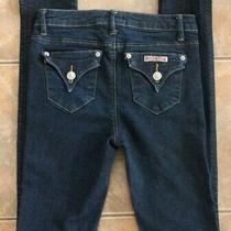 Girls Hudson Jeans Sz 16 Dark Blue Wash Button Flap Pockets Skinny Leg Designer Photo