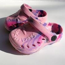 Girls Infant/toddler Size 4 Light Pink/purple Skechers Cari Bumble Bugs Sandals Photo