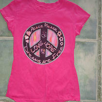 Girls Ink Inc Peace Love T-Shirt Sz M Photo