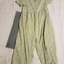 Girls Jumper / Romper Shorts Sleeve Sz 3 Xl Baby Gap Green Floral - 64s Photo