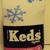 Girls Keds Brand 2 Pk Fashion Tights Various Colors Polkadots Stripes Size Small Photo