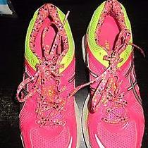 Girls Kids Youth Asics Gel Kayano Size 4.5 C459n 3591 Pink Yellow Sneakers Mint Photo