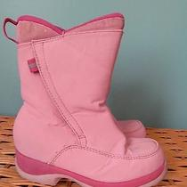 Girls Lands End Pink Snow Boots 12  Photo