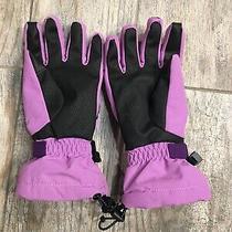 Girls' Lands' End Squall Gloves Size M Medium Sz Purple Euc Ski Photo