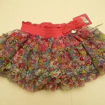 Girls Layered Flower Macys Sanrio Hello Kitty Princess Skirt Skirt Size 5 Nwt  Photo