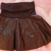 Girls Leather Skirt Kensie Size 10/12 Black Excellent Condition Photo