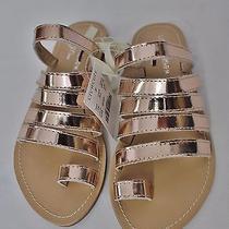 Girls' Little Mayhem for J.crew Sandals Metallic Rose Gold Size K1 Nwt C8115 Photo