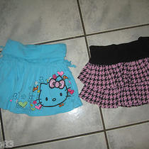 Girls Lot of 2 Hello Kitty Skorts Aqua & Pink Size 6x  Ln Photo