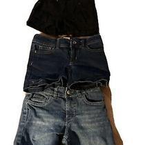 Girls Lot of 3 Girls Shorts Size 6  2 Blue Jean & Black Shorts Photo