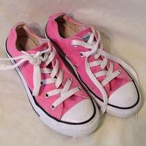 Girls Low Top Pink Converse Size 1 Photo
