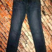 Girls Lucky Brand Cate Skinny Fit Blue Denim Jeans Midrise Straight Leg Size 12 Photo