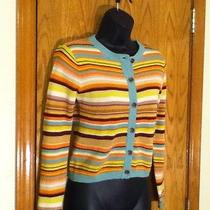 Girls Missoni Neon Trendy Stripe Lightweight Button Front Cardigan - L Photo