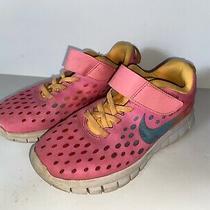 Girls Nike Free Express Gs Running Shoes Pink Orange Polka Dot Youth Size 13 Photo
