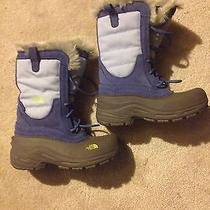 Girls North Face Heat Seeker Winter Boots Size 3 Photo