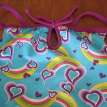 Girls Nwot Speed Swimsuit Bathing Suit Aqua Pink Yellow One Piece Spring 4/5 Photo