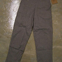 Girls Nwt Boutique K.c. Parker Sz 7 Black White Check Pants Crop New  Photo