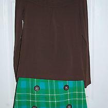 Girls Nwt Boutique Kc Parker L/s Knit Top Plaid Skirt Size 10 Bts Cute Photo