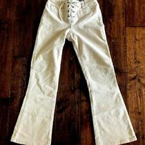 Girls Off White/ Blush Corduroy Pants Bottoms Size 8 Limited Too Vintage Photo