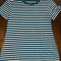 Girls Old Navy Cre Neck Green and White Size Medium Shirt Photo