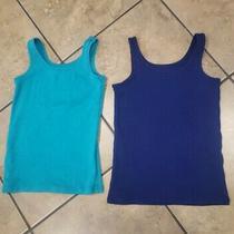 Girls Old Navy Lot of 2 Tank Tops Undershirt Blue  Green Size Xs (5) Photo
