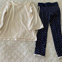 Girls Old Navy Outfit Sz S (6-7) Disney Mickey Leggings Navy Blue Euc Photo