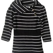 Girls Old Navy Toddler Long Sleeved Black White Striped Sweater Dress Size 4t Photo