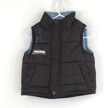 Girls Outerwear Timberland Cute Puffer Vest Sleeveless Zippered 12 Months Brown Photo