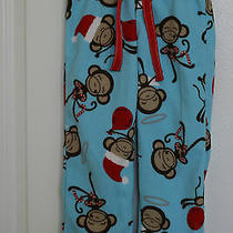 Girls Pajama Pants Bottoms Size 5 Xs Old Navy Monkeys Candy Canes Balloons Euc Photo