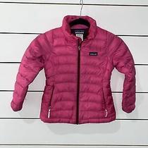 Girls Patagonia Size Xs 5/6 - Pink Down Full-Zip Puffer Jacket Photo