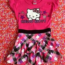 Girls Pink Hello Kitty Dress Size 4 Photo