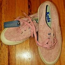 Girls Pink Keds Herringbone Classic Tie Shoes Sneakers New Sz 2.5 2 1/2 Youth Photo