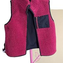 Girls Pink Quilted Baby Gap Vest 5t Sherpa Lined Photo