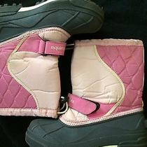 Girls Pink Snow Boots Photo