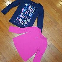 Girls Pj Tops 6 Medium Gap Cat Jack Long Sleeve Pjs Pajama Shirt Girl Sleepwear  Photo