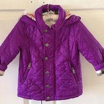 Girls Purple Burberry Jacket Photo