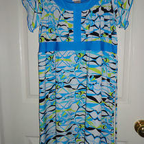 Girls Rampage Turquoise Blue Short Sleeve Tie-Back Dress Size 12/14 Photo