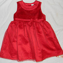 Girls Red Dress & Blouse Size 18 Months Holiday Photo Op   Photo