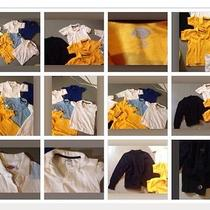 Girls School Uniform Lot 11pc Top Shirt Cardigan Dress Dickies Sz 7 Blue Yellow Photo