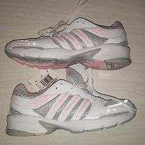 Girls Shoes Adidas Running Hyper Run 3 Us K White Pink Gray Size 4 Photo