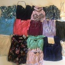 Girls Short 3/4 Sleeve Fall Tops Size Xs Lot 16 Guess Armani Hollister Womens Photo