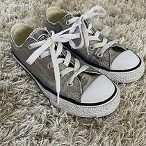 Girls Silver Converse Sneakers - Size 13.5 (Pre-Owned) Photo
