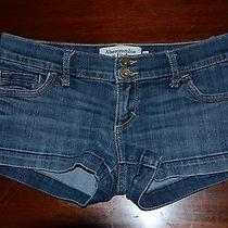 Girls Size 00 Abercrombie and Fitch Denim Shorts Photo