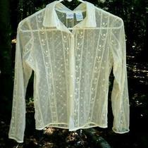 Girls Size 12 Talbots Kids Long Sleeve  Button Down Shirt 100% Nylon Photo