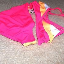 Girls Size (14 ) Old Navy  Pink Swimsuit  Ruffles on Top Nwt Photo