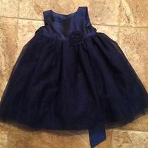 Girls Size 2t Camilla Dress Navy Blue With Tulle and Taffeta Photo