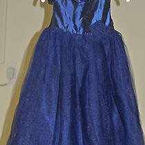Girls Size 3t Camilla Dress Navy Blue With Tulle and Taffeta Photo