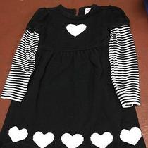 Girls Size 5-6 Sweater Dress by Camilla Black and White Photo