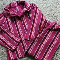 Girls Size 5 Baby Gap 2 Piece Pajama Set Pink Blue Stripe Photo