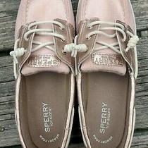 Girls Size 5 Sperrys Blush Pink Sparkle Boat Shoes Photo